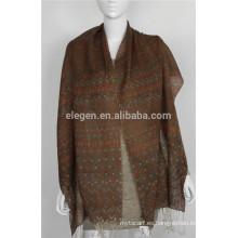 Bufanda de lana mercerizada Chevron