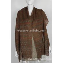 mercerized wool Chevron Print scarf