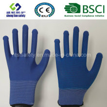 PVC Dots Arbeitssicherheit Polyester Handschuhe