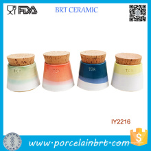 Ensemble de 4 petits contenants de thé en céramique