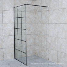 Bathroom Cheap Matted Black Walk in Shower Screen Black