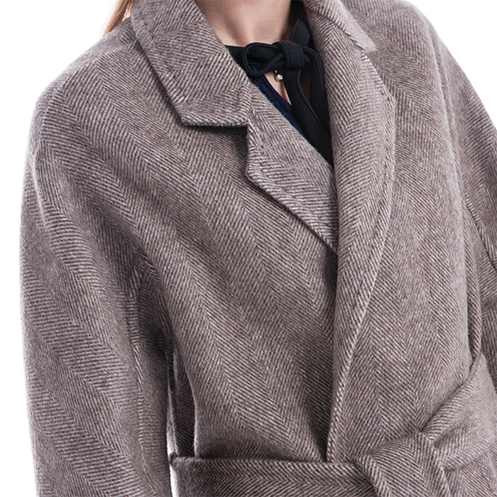 Front of the New Styles Camel Winter Coat
