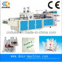 Tipo Hot Cutting Bolsa automática de la camiseta que hace la máquina (DFHQ-450X2)