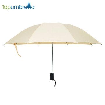 Nuevos productos Personalizar Tela de Pongee Abrir Auto Cerrar Invertida Plegable paraguas
