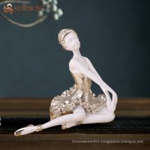 Factory custom home decoration handmade resin ballerina crafts