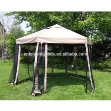 6 forme de bord pliante gazebo tentes de gazebo en acier