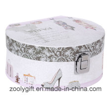 Semicircle Cosmetic Printing Paper Gift Box with Mirror and Lock