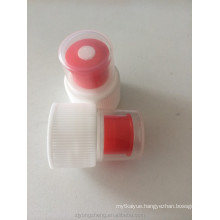 28mm plastic push pull sports water bottle caps with dust cover