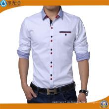 Camisas de vestir de los hombres a estrenar Camisa formal de las empresas ocasionales de la moda