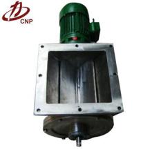 Válvula de descarga cuadrada neumática industrial rotativa