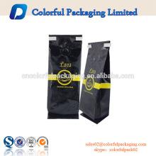 Saco de empacotamento de alumínio personalizado do malote do café da válvula 8OZ / 16OZ selado com laço da lata
