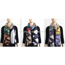Bufanda multicolor suave y ligera imprimida modal