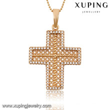 32703 Xuping trendy charm Christma Gifts gold plated Cross pendant