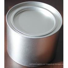 Tarro de hierro blanco, lata de hierro, lata de acero inoxidable, lata de comida, lata hermética con tapa