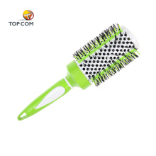 Large soft ceramic silicone curling round hair brush