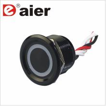 Interruptor de botão de 22mm com LED de fiação