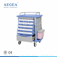 AG-MT001A1 CE ISO five drawers hospital emergency mobile medicine carts