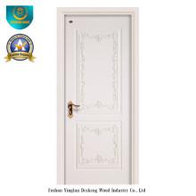 Puerta simplificada estilo europeo HDF para interiores con talla (ds-052)