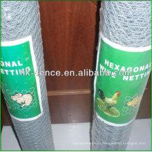 Горячее окунутое Гальванизированное шестиугольное плетение провода 41мм для кролика
