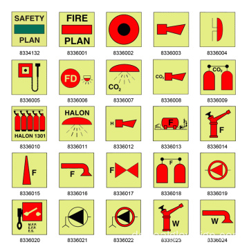 Realglow IMO Fire Control Signage