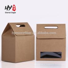 Фабрика новый дизайн бумажный мешок подарка с окном PVC