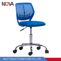 Colorful Fabric Adjustable Chrome Base Child Foam Chairs With Swivel Seat