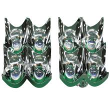 Cobertura de luz de plástico galvanizado de alumínio