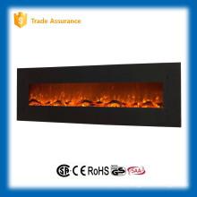 Elegante GRAND nogueira fogo aquecedor elétrico lareira