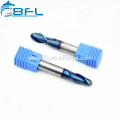 BFL - 2/4 Flutes Tungsten Carbide End Mill - Ball Nose Endmill