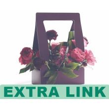 Sehr billig gute Qualität professionelle Herstellung Guangzhou gemacht Bunte Wellpappe Griff Verpackung Blume Trägerbox