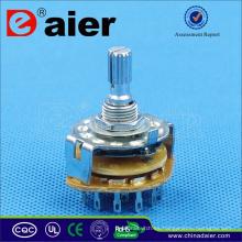 Interruptor giratorio de retorno de muelle Daier Interruptor giratorio de 4 posiciones