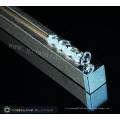 Vorhangschienenprofile aus Aluminium mit gebürstetem Roségold