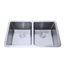 304 stainless steel double kitchen sink