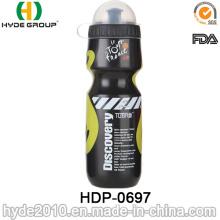 Botella de agua corriente plástica libre de los deportes del BPA de 2017 mejores ventas BPA (HDP-0697)