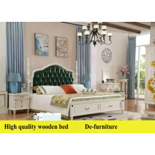 New Arrival Ciff America Style Leather Bed, Korean Leather Bed (L097)