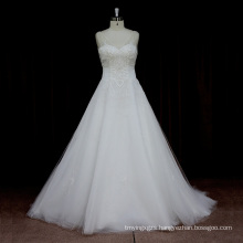Latest Pageant Sexy Low Back Wedding Dress