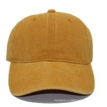высокое качество дешевые пустой помытый почищенный щеткой хлопок папа шляпа бейсболка