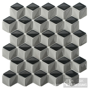 Interessante Diamond Kitchen Backsplash Glass Mosaic