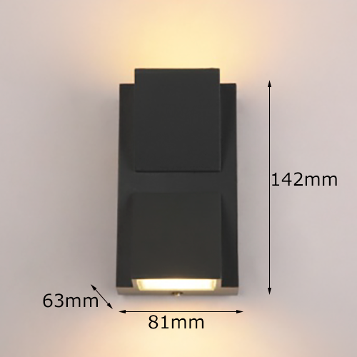 6W K-shaped up and down outdoor wall lightofoutdoor wall light Size