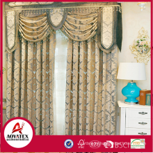 100% polyester latest elegant flocking curtains for the living room