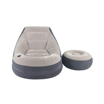 Lazy lounge sofa with foot rest stool