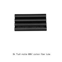 Sarja completa da fibra do carbono 3K - tubos ou canos redondos matte de 22x20x500mm para os zangões de FPV