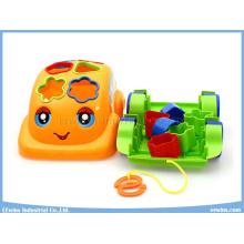 Juguetes educativos del coche de la historieta de los bloques de los juguetes con el cable