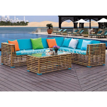 Double PE rattan wicker sofa sets wicker furniture