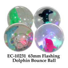 Funny 65mm Flashing Water Bouncing Ball Dolphin Toy