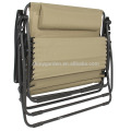 2 Person Gravity Double Wide Patio Lounger reclinging with 2 Cup holders