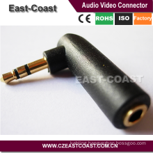 3.5mm headset Audio Male to Female Adapter Stereo Plug Socket Connector L Shape