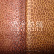 Tecido de camurça decorativo em relevo de poliéster