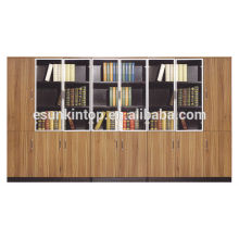Wooden bookcase design for big office, Nice appearance files case (KB838-1)