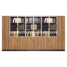 Design de madeira de biblioteca para escritório grande, caso de arquivos de aparência agradável (KB838-1)